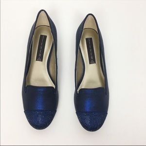 Steven by Steve Madden Katie Blue Jeweled Loafer